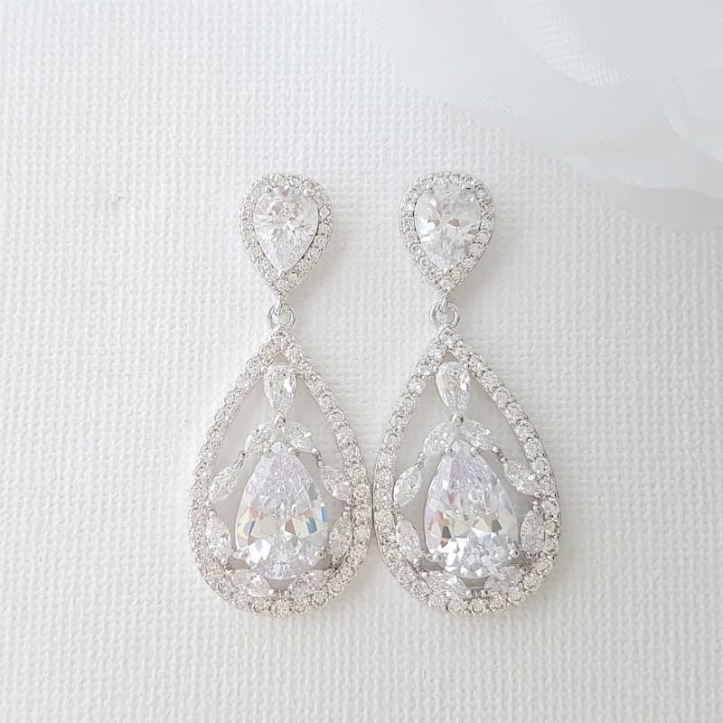 Sparkles galore silver earrings