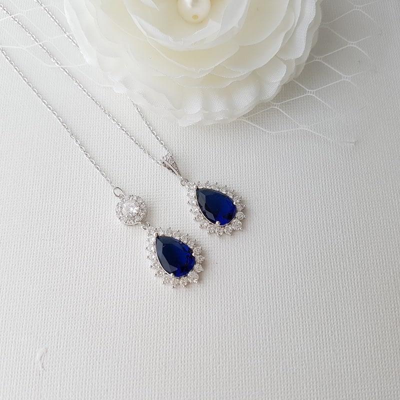Something Blue Backdrop Necklace