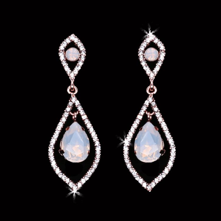 Teardrop Opal Earrings