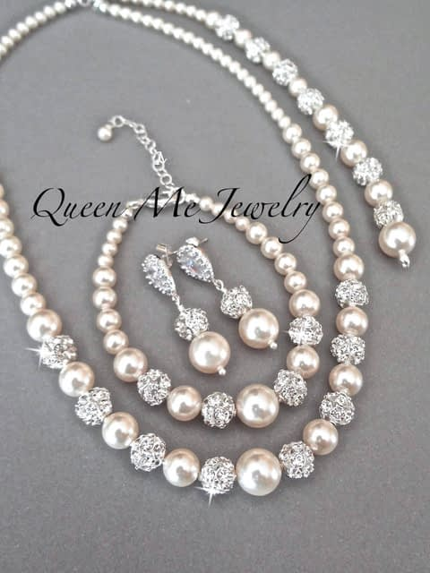 Swarovski Pearl Set by Lee Richards