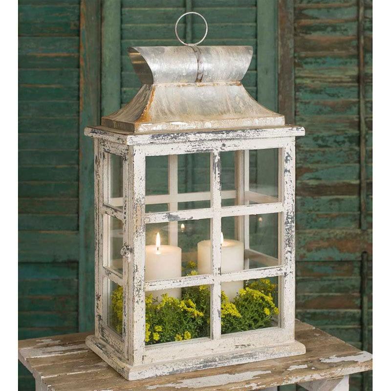 large windowpane lantern