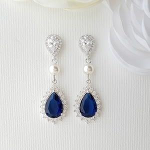 Something Blue Clip Earrings