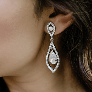 translucent opal earrings